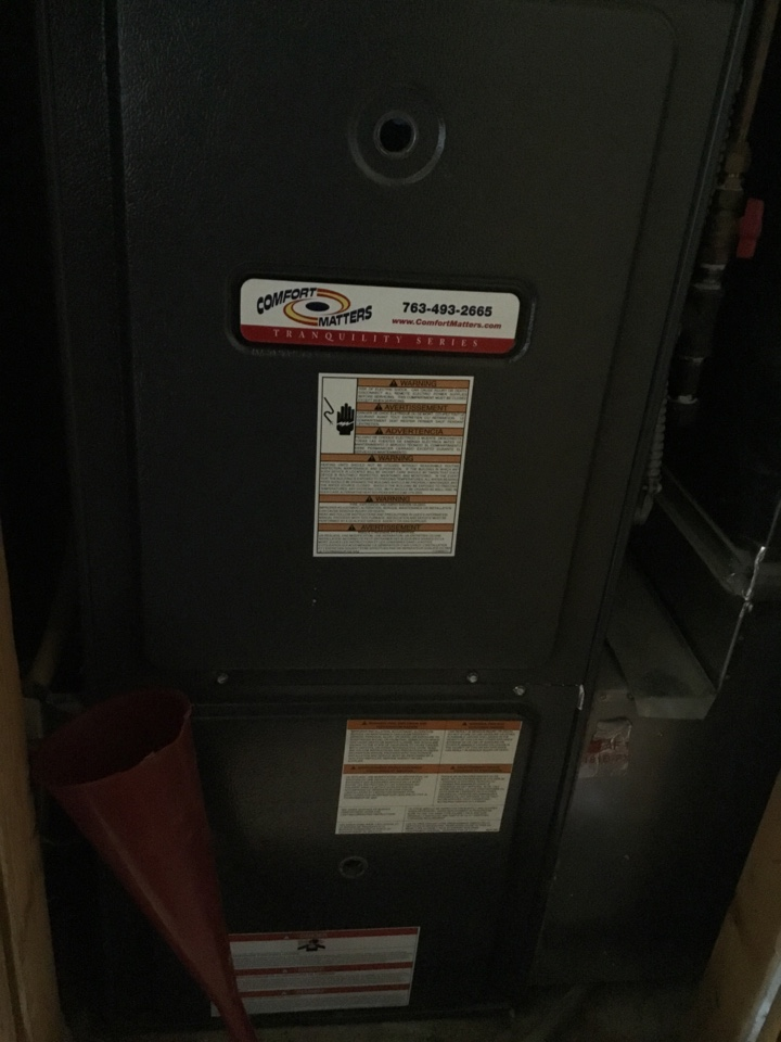 Dayton, MN - Furnace tune up. Furnace is in terrific shape for the winter!
