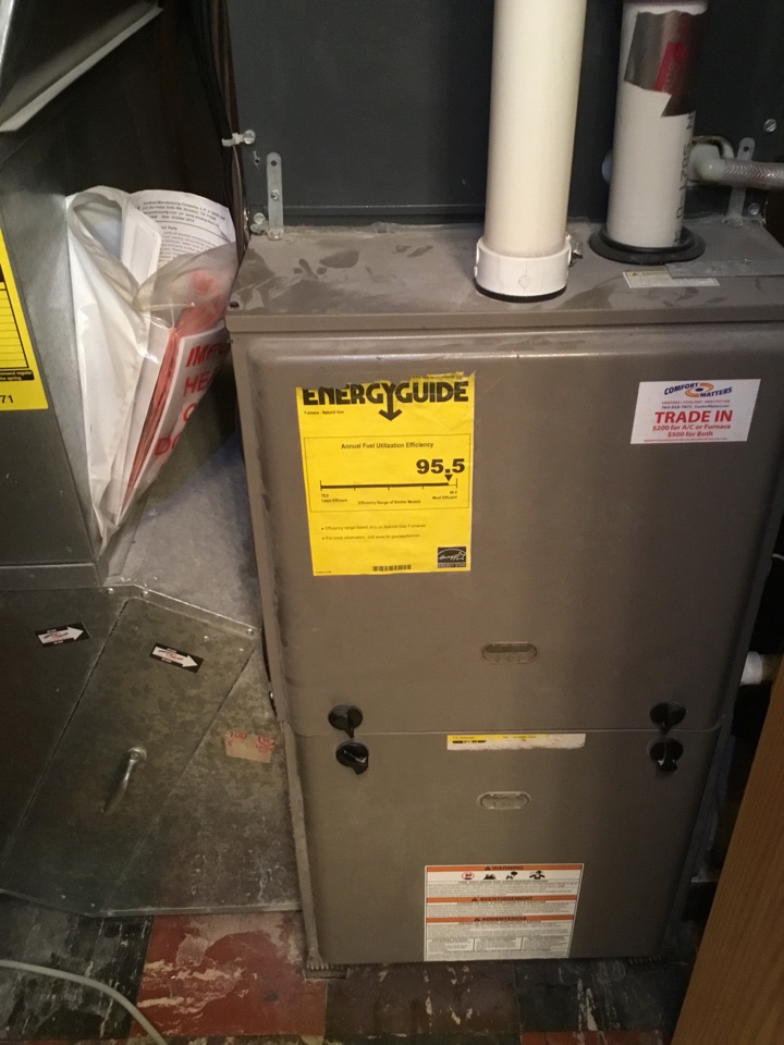 Shorewood, MN - Furnace tune up.furnace is in terrific shape for the winter!