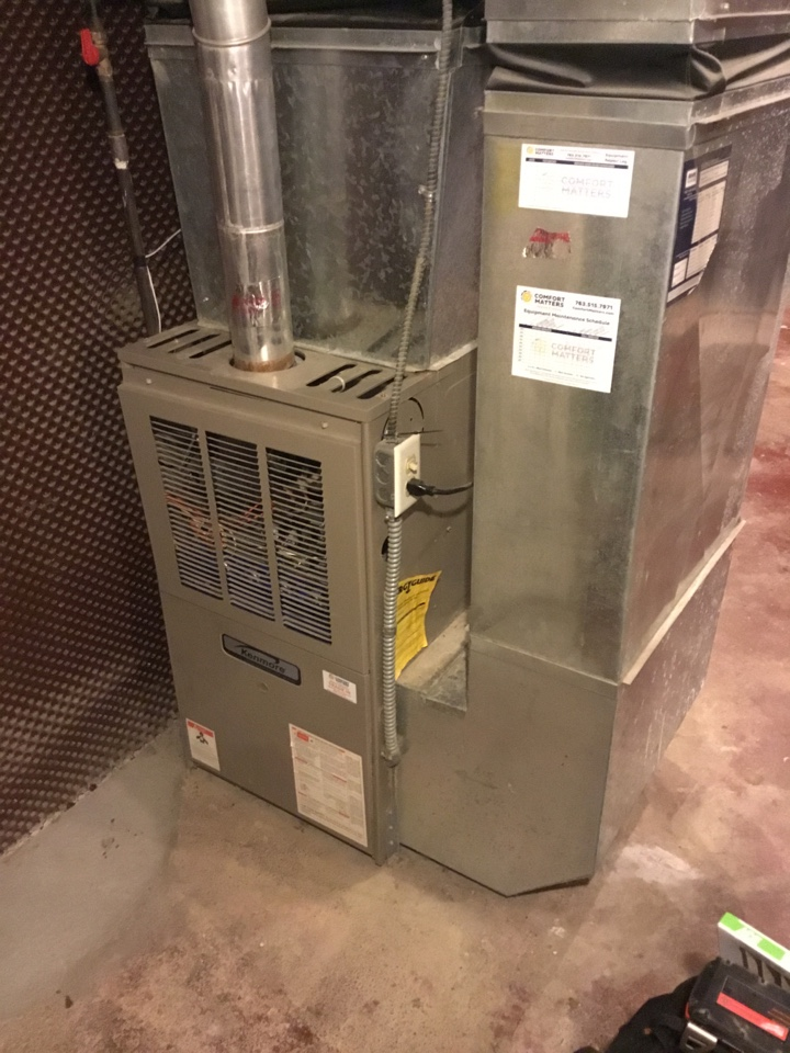 Wayzata, MN - Furnace tune up. Performed maintenance on Kenmore furnace.