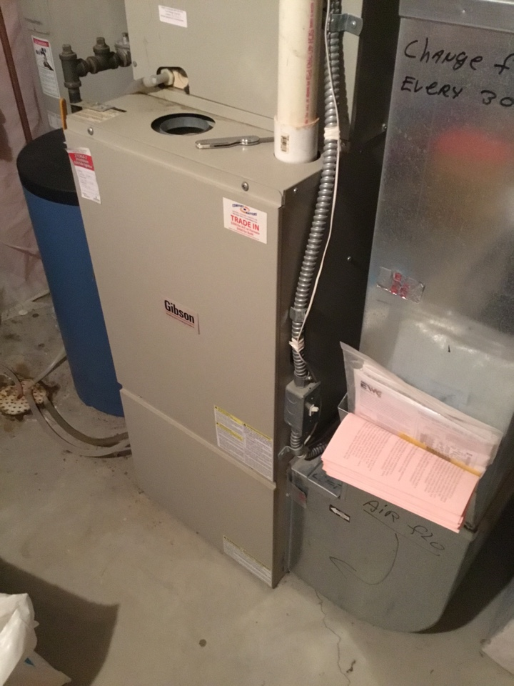 Otsego, MN - Furnace tune up. Performed maintenance on Gibson furnace.