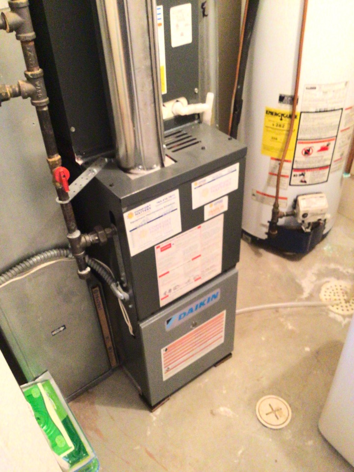 Plymouth, MN - Furnace precision tune up on Daikin furnace