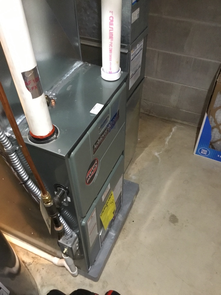 Albertville, MN - Furnace tune up. Performed maintenance on Ruud furnace and sealed exhaust leak.