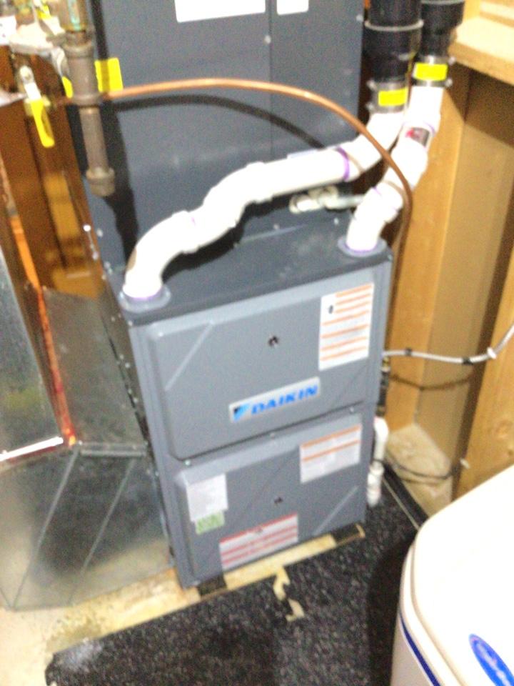 Saint Michael, MN - Furnace precision tune up on Daikin furnace