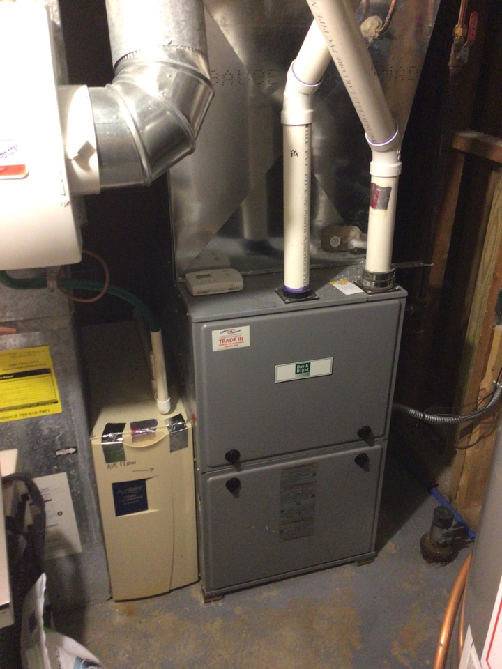 Eden Prairie, MN - Heating precision tune up on night and day furnace