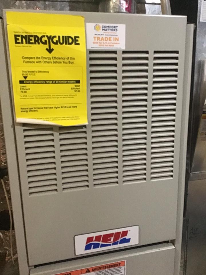 Saint Michael, MN - Verified overall heating operation