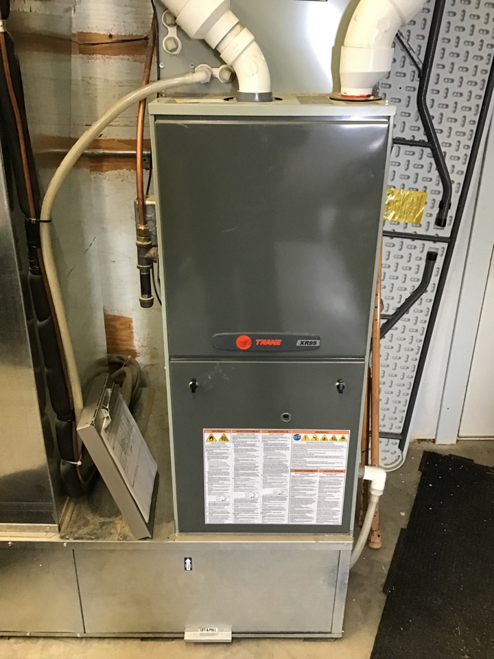 Buffalo, MN - I performed a precision tuneup on a high efficient Trane furnace