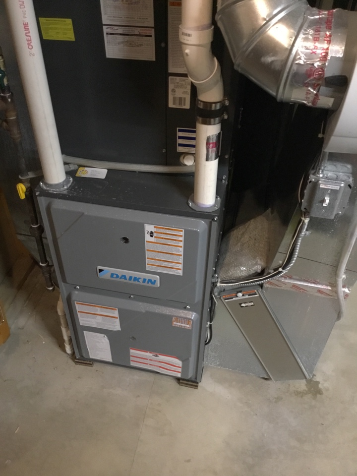 Hanover, MN - Furnace tune up. Performed maintenance on Daikin furnace and cleaned air exchanger.