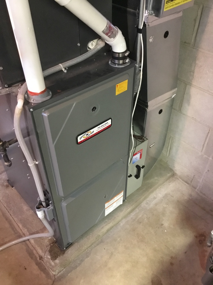 Eden Prairie, MN - Furnace tune up. Performed maintenance on Amana furnace and replaced flame sensor.