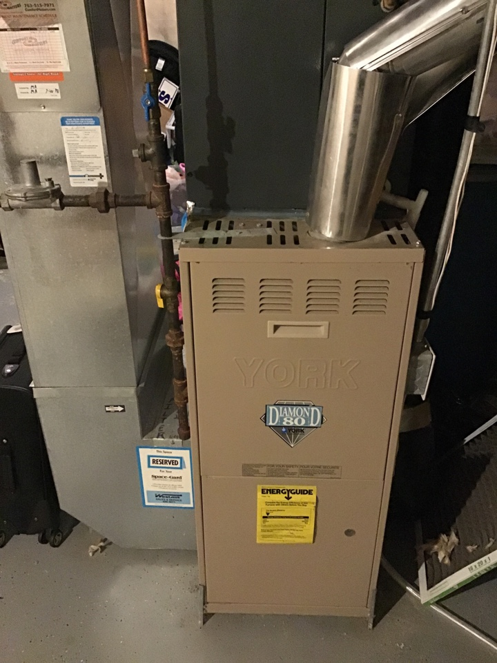 Albertville, MN - I diagnosed a failing exhaust motor on a York furnace
