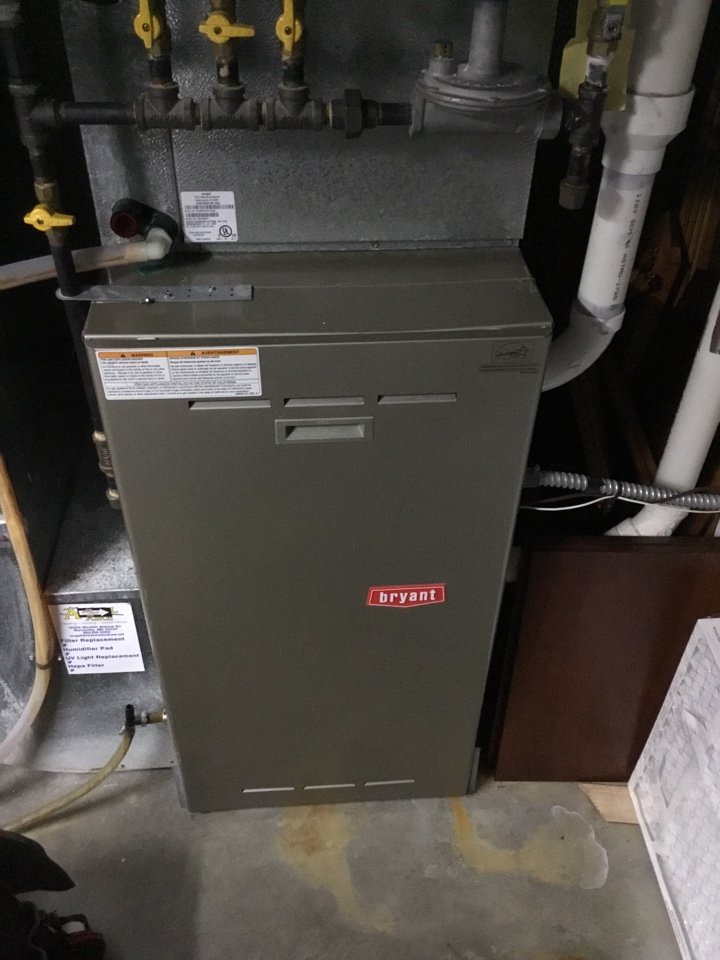 Plymouth, MN - Diagnosed no heat call with failed secondary heat exchanger on Bryant furnace.