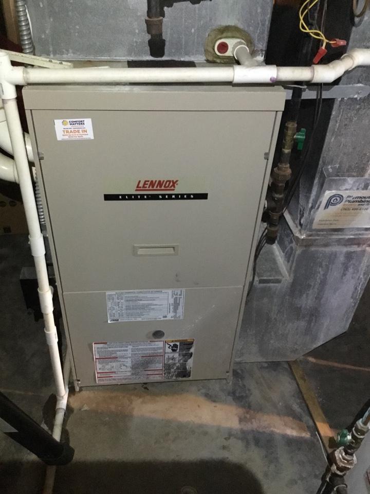 Big Lake, MN - Furnace tune up. Performed maintenance on Lennox furnace.