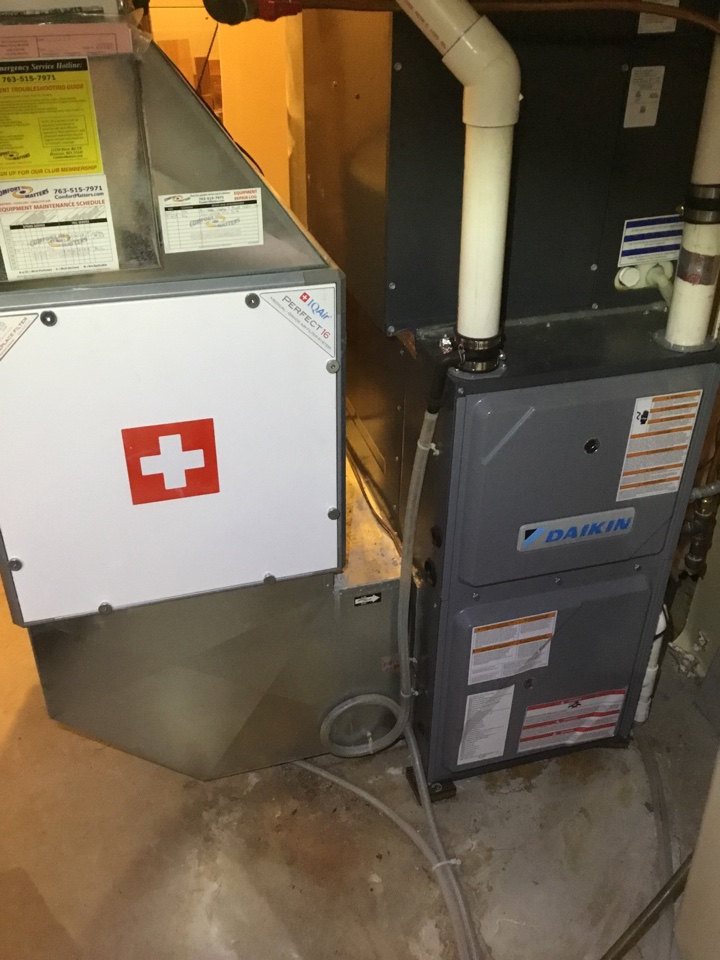 Monticello, MN - Furnace tune up. Furnace is in terrific shape for the winter!