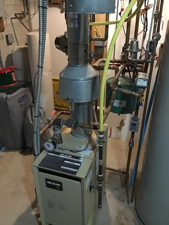 Rockford, MN - I diagnosed a failed zone valve on a Weil McClain boiler
