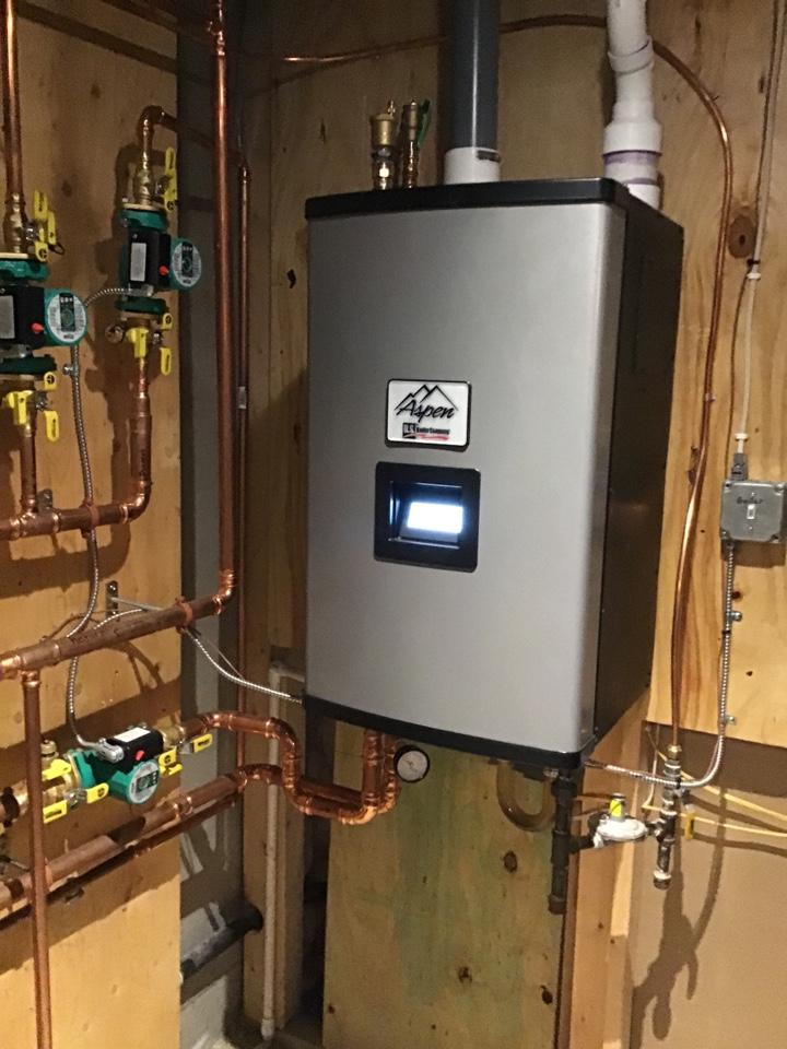 Loretto, MN - I performed a precision tuneup on a high efficient Burnham boiler