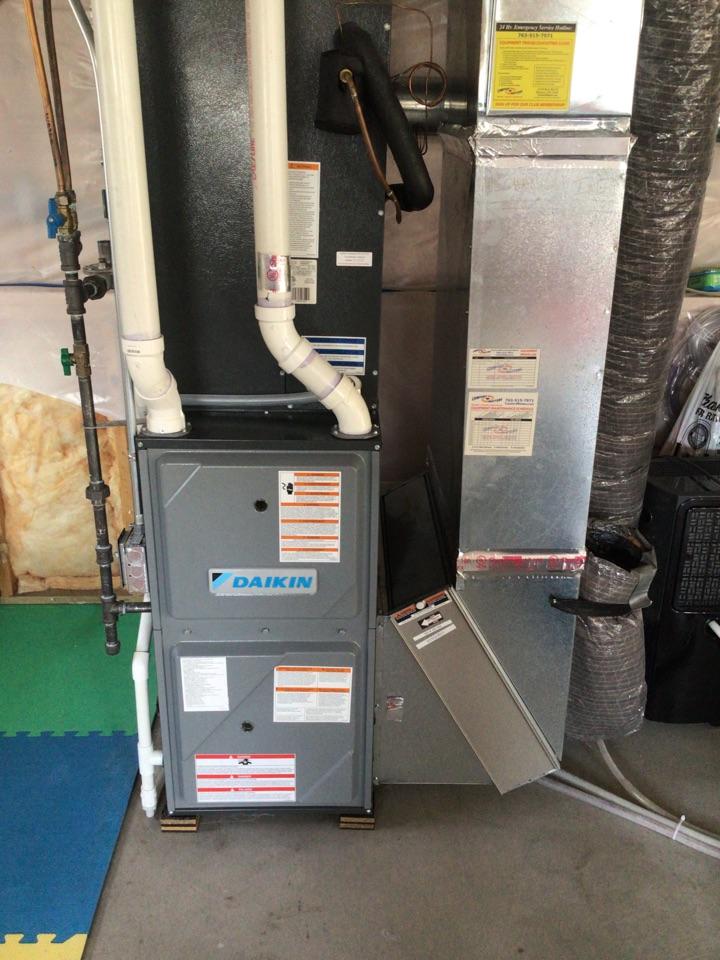Monticello, MN - Furnace precision tune up on Daikin furnace
