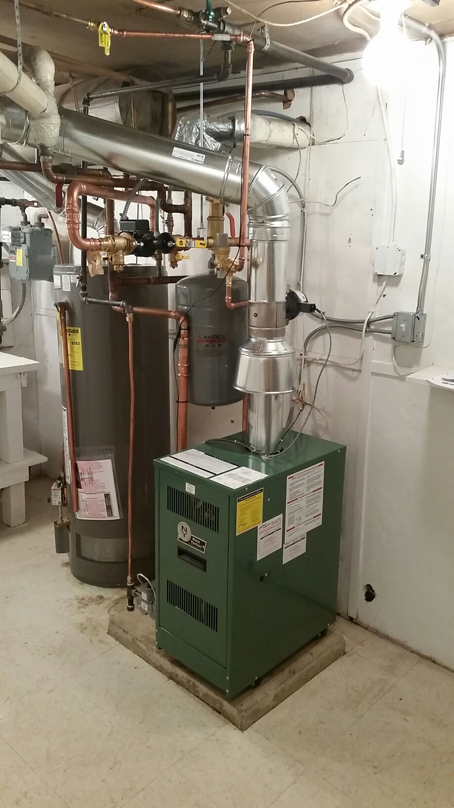 Saint Louis Park, MN - Hot water boiler inspection.