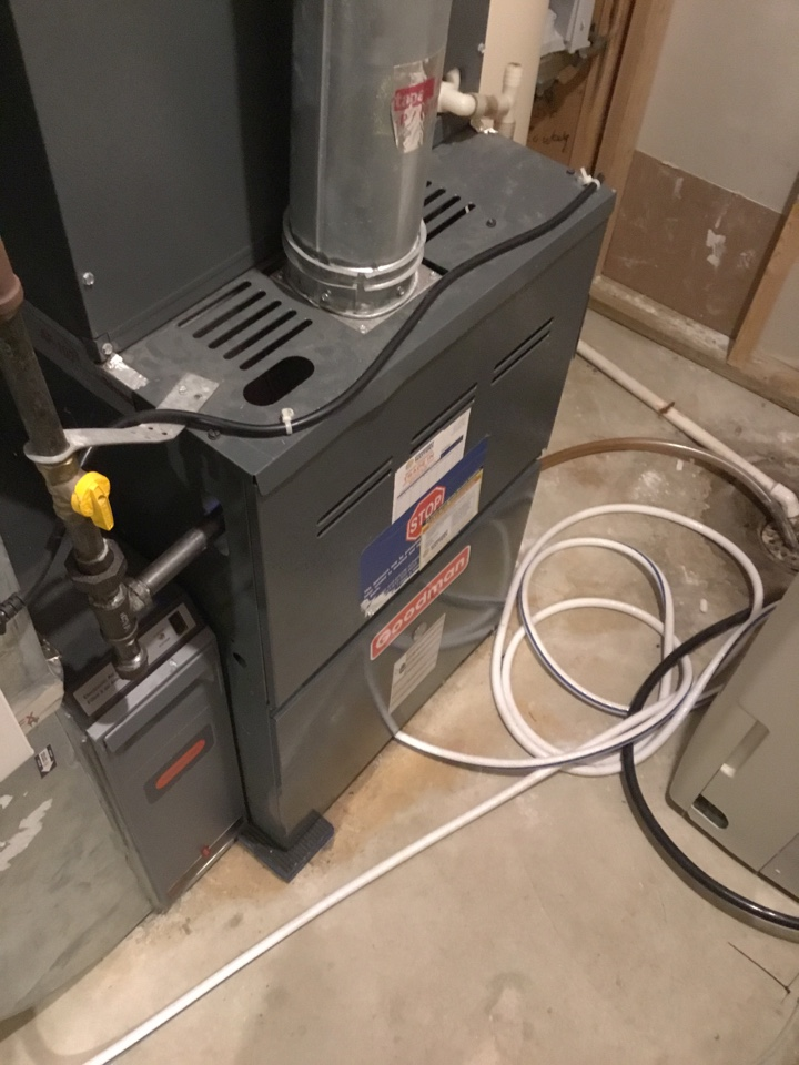 Plymouth, MN - Furnace tune up. Performed maintenance on Goodman furnace and replaced flame safety sensor.