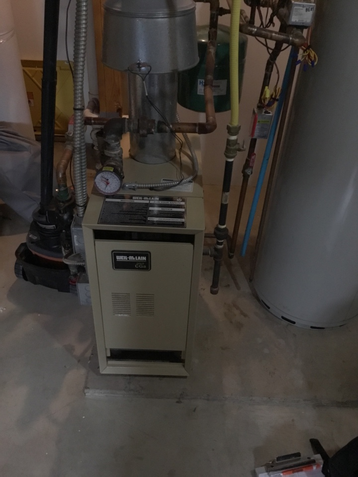 Rockford, MN - Installed new programmable thermostat for boiler.