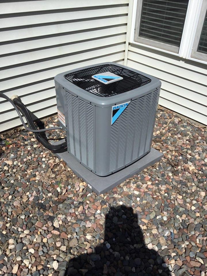 Delano, MN - Ac tune up, performed maintenance on Daikin air conditioner.