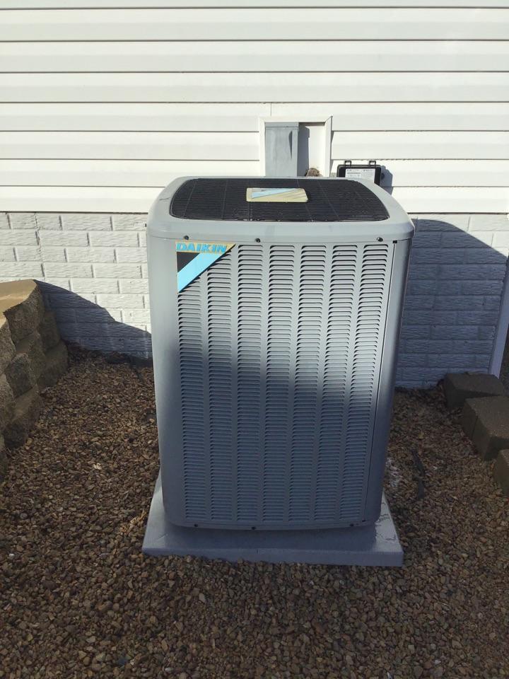 Saint Michael, MN - I performed annual maintenance on a Daikin air conditioner