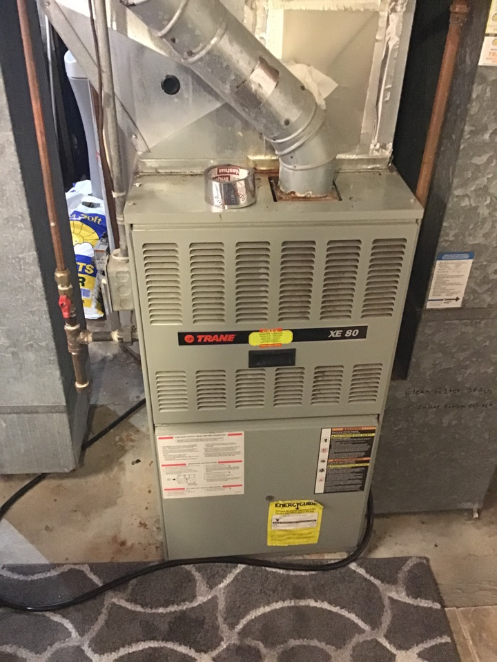 Plymouth, MN - I replaced a failed blower motor on a Trane furnace
