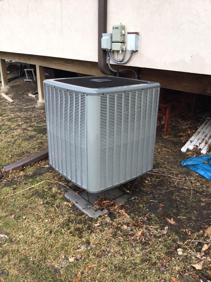 Maple Grove, MN - Ac tune up. Performed maintenance on Amana heat pump.
