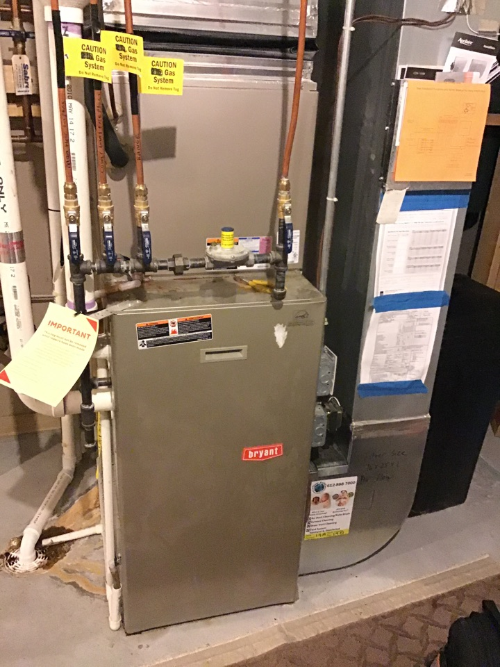 Plymouth, MN - I diagnosed a failed heat exchanger on a Bryant furnace