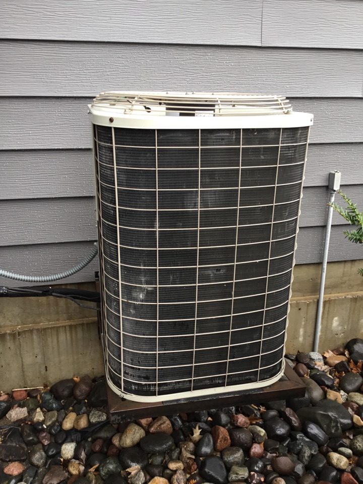Osseo, MN - Ac tune up. Performed maintenance on Bryant air conditioner and added bird screens to flue pipes.