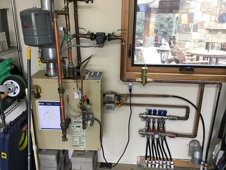 Rogers, MN - I replaced a failed expansion tank on a Weil McClain boiler