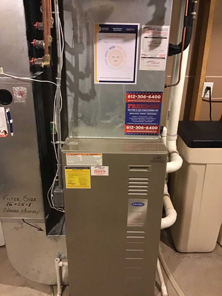 Maple Grove, MN - I replaced a failed gas regulator on a Carrier furnace