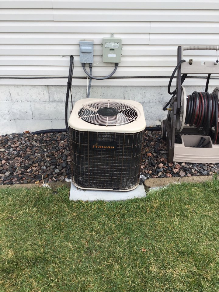 Saint Michael, MN - I performed annual maintenance on an Amana air conditioner