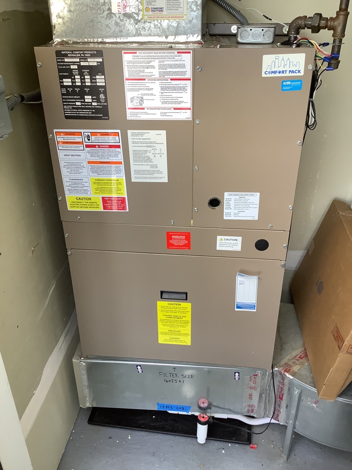Osseo, MN - Performed ac tune up. Air conditioner/furnace tune up.