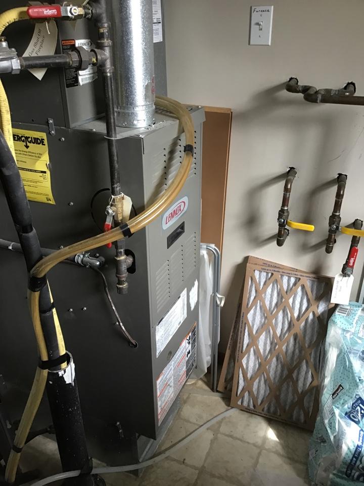 Brooklyn Park, MN - Replaced a failed gas valve on a Lennox furnace.
