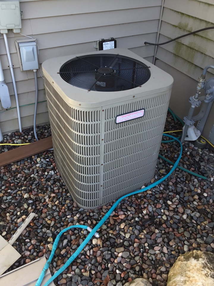 Rockford, MN - Ac tune up, performed maintenance on Goodman air conditioner.