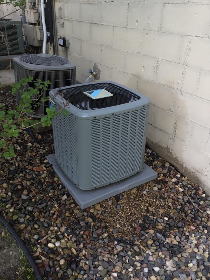 Eden Prairie, MN - Ac tune up. Performed maintenance on Daikin air conditioner and installed drain pan treatment.