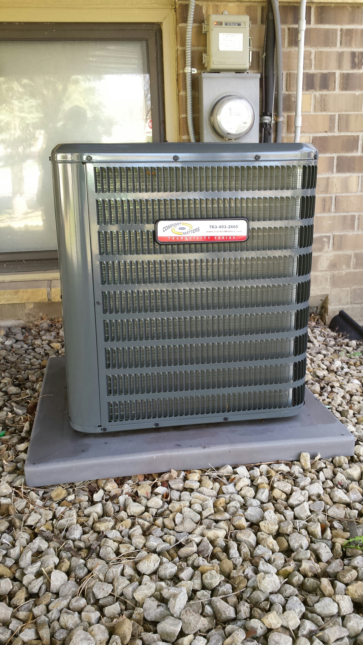Fridley, MN - Air conditioning tune up and cleaning on a Comfort Matters air conditioner