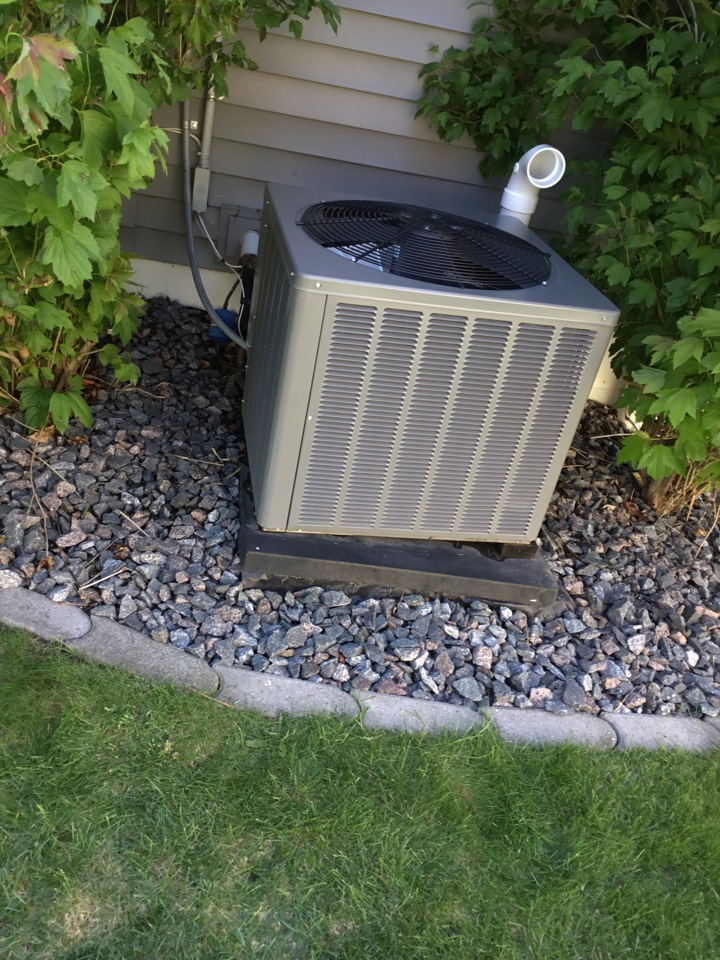 Albertville, MN - No cooling call. RHEEM air conditioner low on refrigerant.