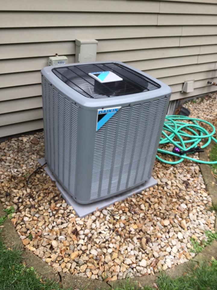 Champlin, MN - Ac tune up on Daikin air conditioner.