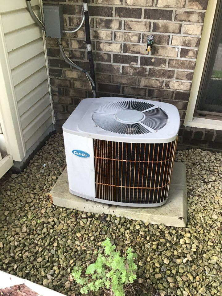 Coon Rapids, MN - I performed annual maintenance on a Carrier air conditioner