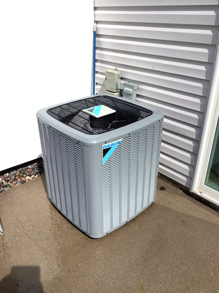 Coon Rapids, MN - Ac tune up. Ac tune up on a Daikin ac, installed AC Surge protector onto ac