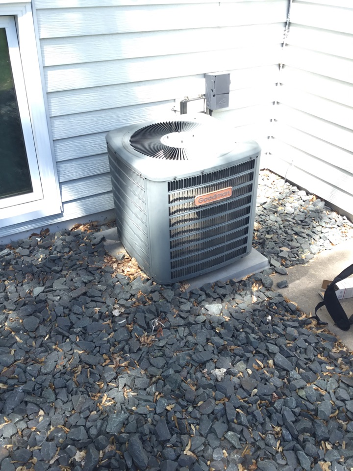 Otsego, MN - No cooling call. Found AC motor booster failed and replaced to get AC working again.