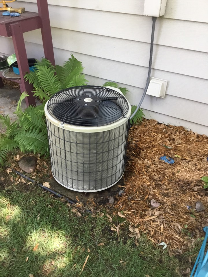 Ramsey, MN - No cooling call. Found AC low on refrigerant and freezing up.