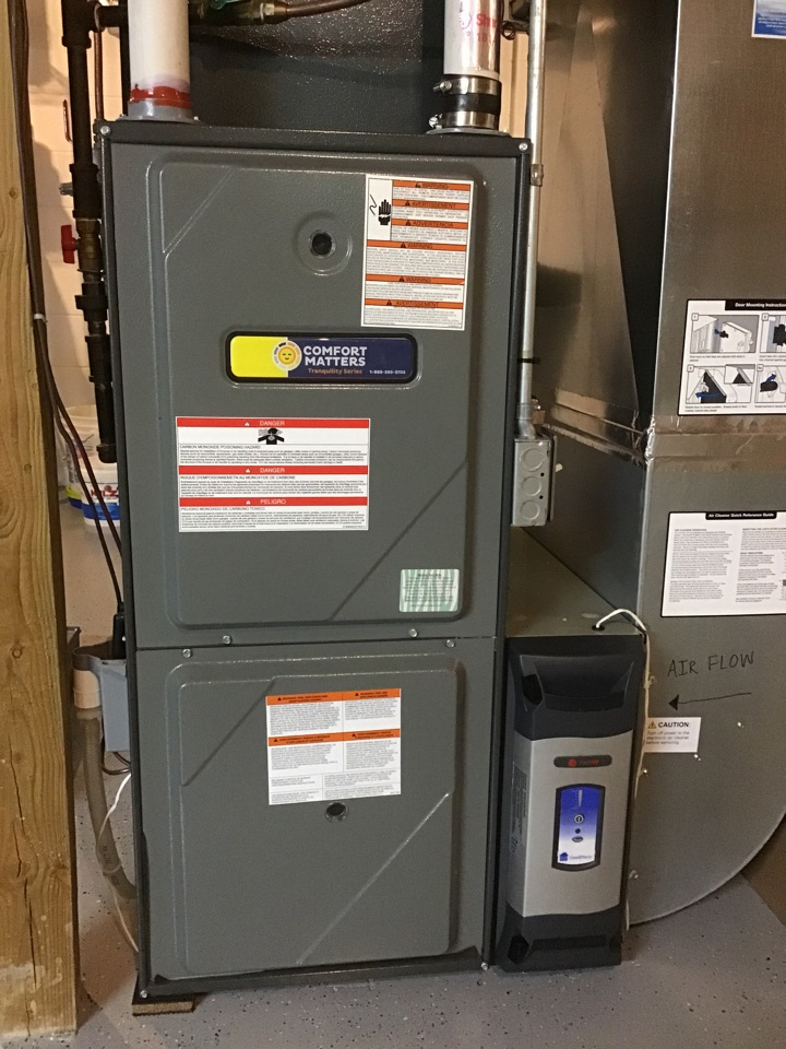 Champlin, MN - Installed a electronic air cleaner on a Amana Furnace.