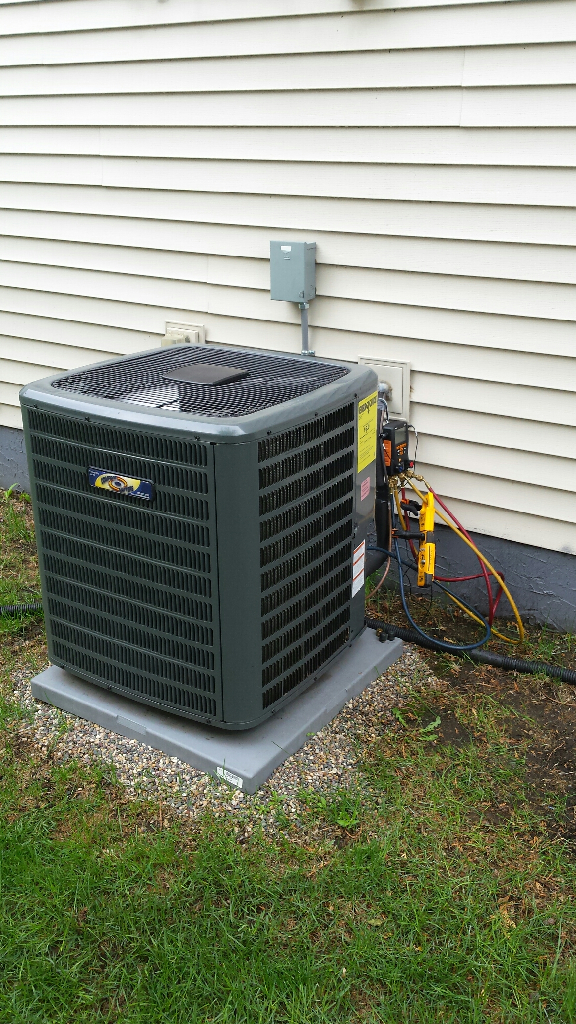 Montrose, MN - Ac start up on Goodman air conditioner in montrose