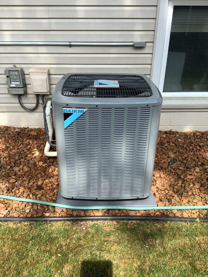 Eden Prairie, MN - Ac tune up. Air conditioner precision tune up on a Daikin air conditioner