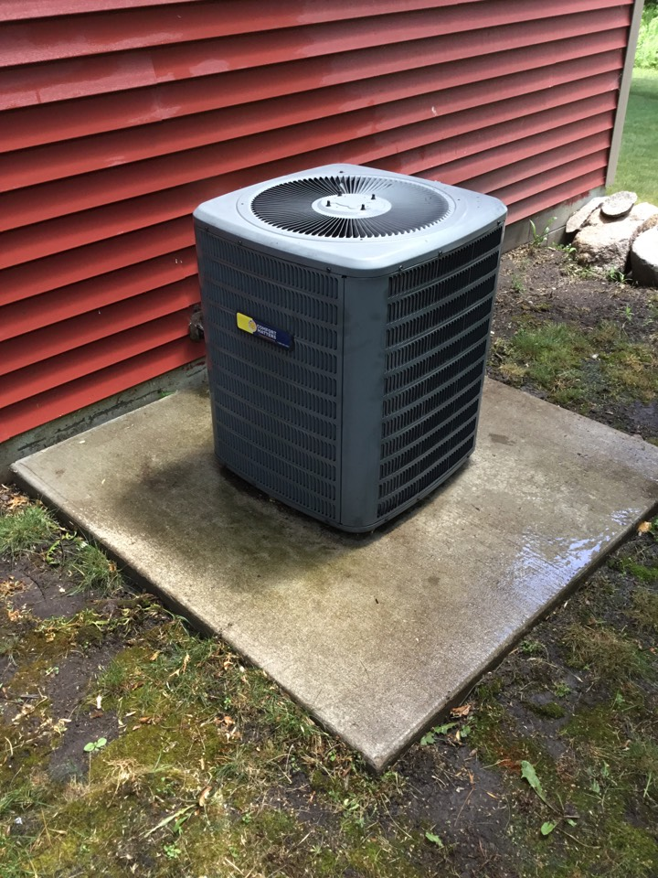 Corcoran, MN - Ac tune up. Performed maintenance on Goodman air conditioner and replaced failed zone motor.