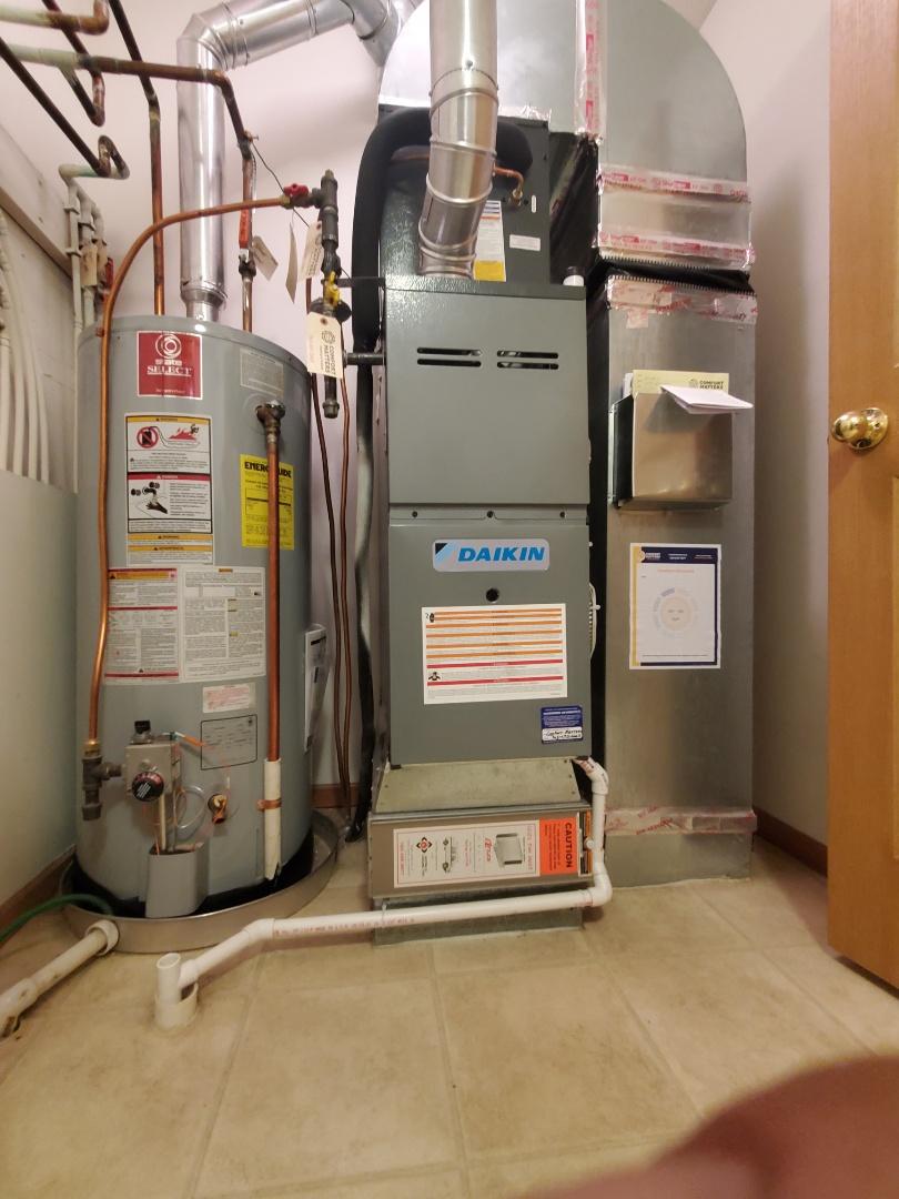 Elk River, MN - New Daikin AC and furnace install