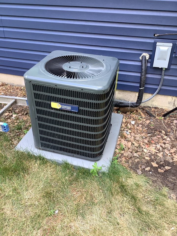 Loretto, MN - Air conditioner tune up. Performed an air conditioner tune up on a Comfort Matters goodman ac