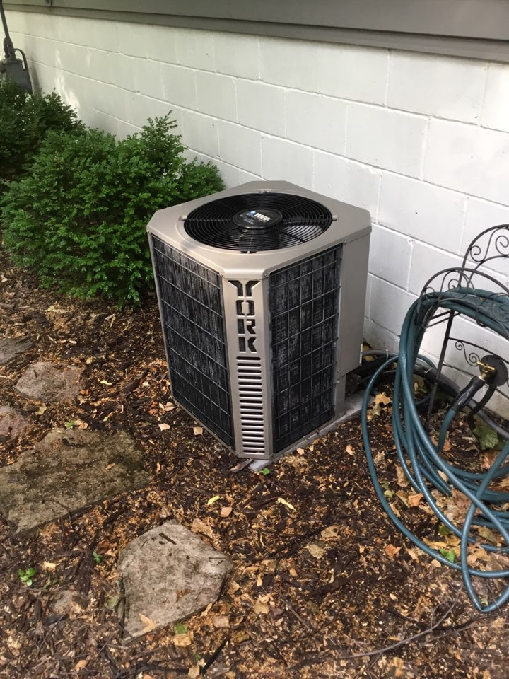 Osseo, MN - Ac tune up. Performed maintenance on York air conditioner.