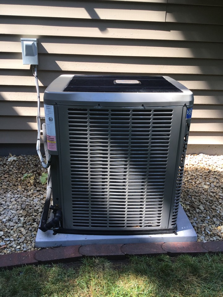 Osseo, MN - I performed annual maintenance on a York air conditioner
